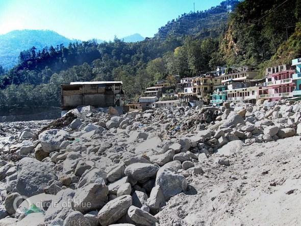 Sonprayag India Mandakini River Himalaya mountain flood dam construction hydropower hydroelectric summit Circle of Blue Choke Point Keith Schneider