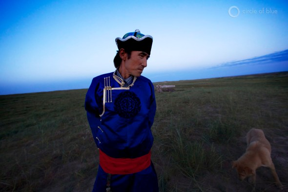 Traditional shepherds on the edge of Inner Mongolia's desertification.