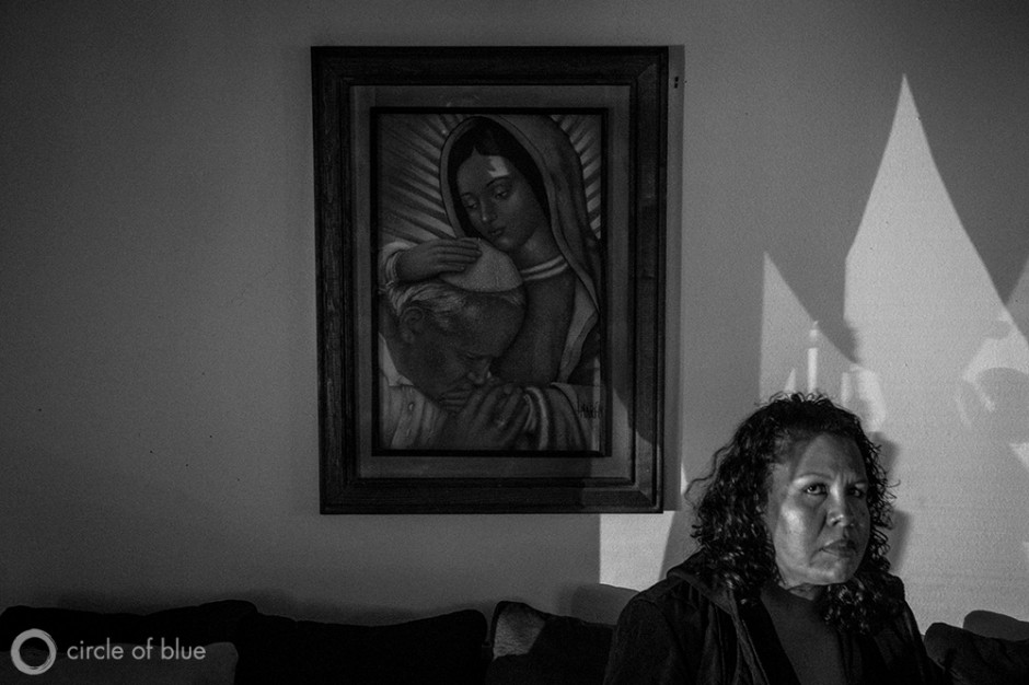 Kettleman City resident Maria Salcedo's ten-month-old daughter, Ashley Alvarez, died from complications stemming from multiple birth defects during a rash of such occurrences between 2007 and 2008 in this small farmworker town in the Central Valley. Contaminated drinking water is viewed as one of the potential causes.