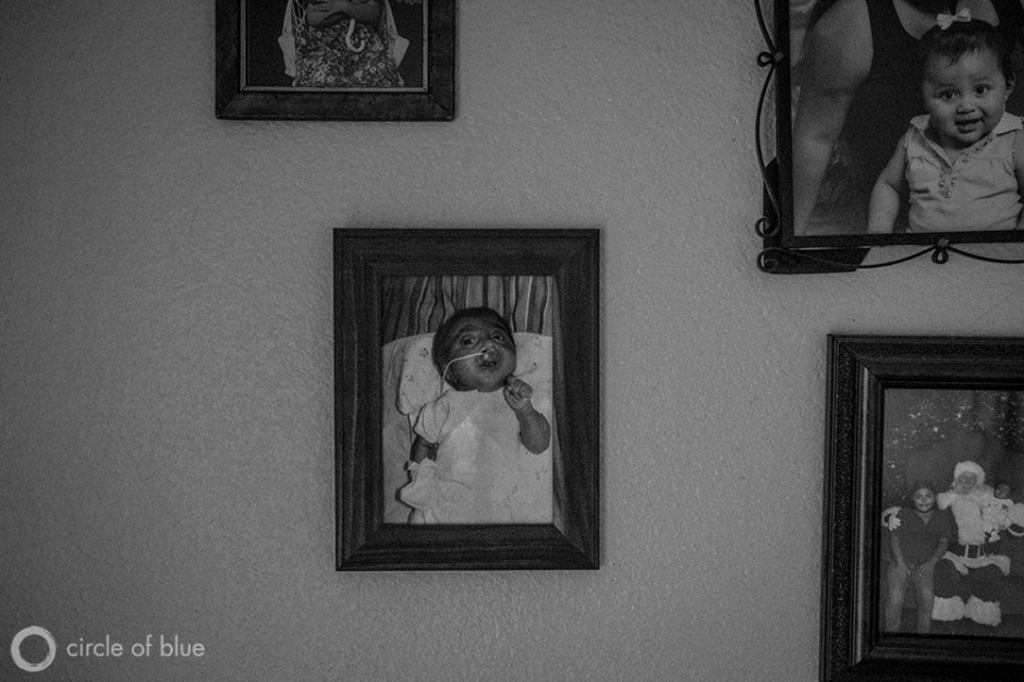 Maria Salcedo's ten-month-old daughter, Ashley Alvarez, died from complications stemming from multiple birth defects during a rash of such occurrences in Kettleman City, a small farmworker town in the Central Valley.