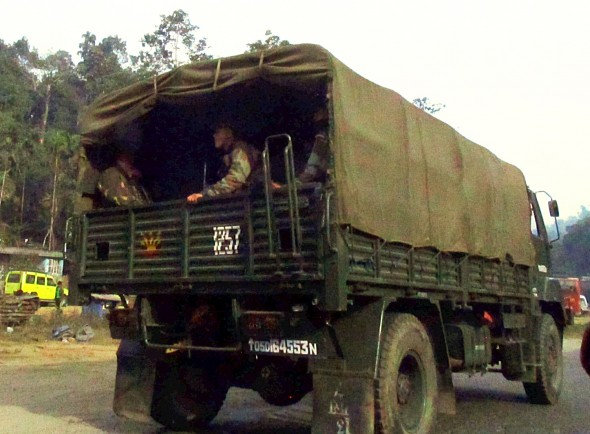 "In response to insurgent bullying and frequent declarations of ""bandh"" or shutdown, Meghalaya maintains a strong police and army security presence."