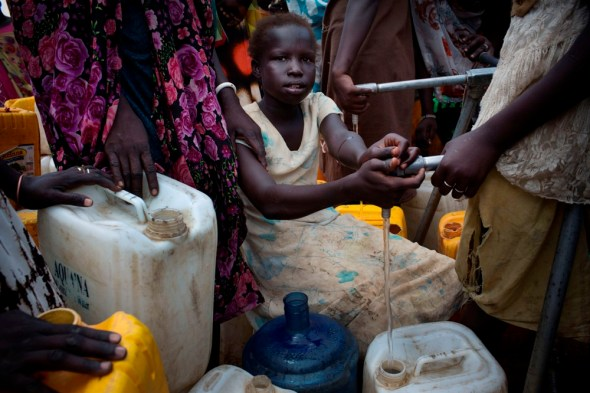 South Sudan fighting water sanitation refugees displaced civil war