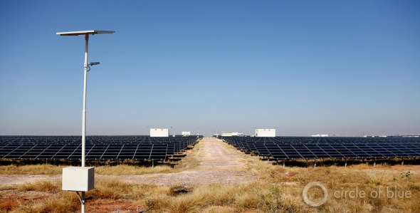 In the desert outside Jodhpur, AES, an American energy developer, built a five-megawatt, $20 million solar photovoltaic power plant. This stretch of desert, lightly populated and ripe with solar energy potential, represents almost precisely what Rajasthan and Delhi envision for a 21st century renewable energy sector. The sun shines 325 days a year.