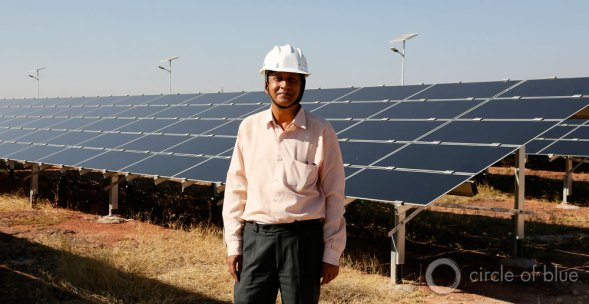 """""""People in this place have been working with nature's energy, what we now call renewable energy, for a very long time,"""" says S.K. Mather, a wind and solar energy project officer with the Rajasthan Renewable Energy Corporation. """"It's one of the reasons we're making good progress with our projects."""""""