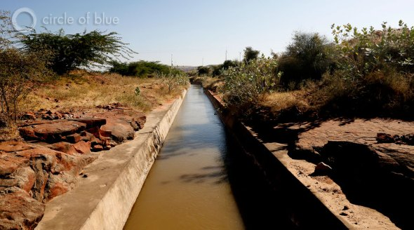 The Indira Gandhi Canal, constructed in the late 1950s and early 1960s, draws water from Punjab, in northwest India, and transports it hundreds of kilometers south to Rajasthan, where it serves as the state's primary source of water for irrigation. Solar and wind energy development use virtually no water, a virtue in the hot and dry region.