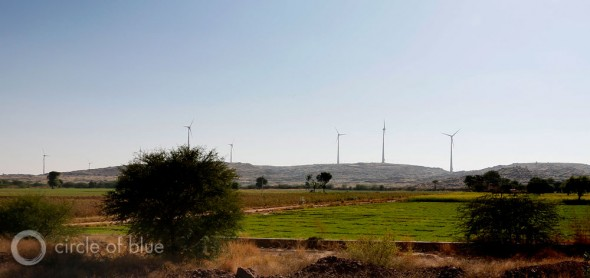 Rajasthan is developing wind energy power plants, like this one outside Jodhpur. Interest, though, is slowing because of difficulties the state is having transmitting the electricity. Just 31 new megawatts of wind generating capacity are scheduled to be built this year, down from an average of 540 megawatts of new generating capacity annually from 2010 to 2013.