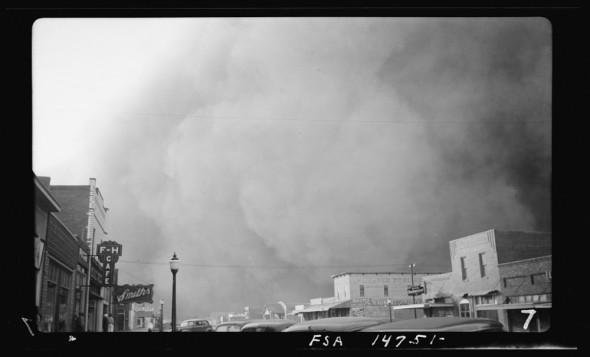 Kansas Dust Bowl drought dust storm agriculture Elkhart