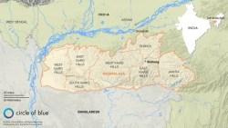 MEGHALAYA map.