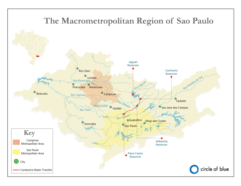 Map: Sao Paulo Water Supply Systems - Circle of Blue