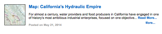 Map: California's Hydraulic Empire