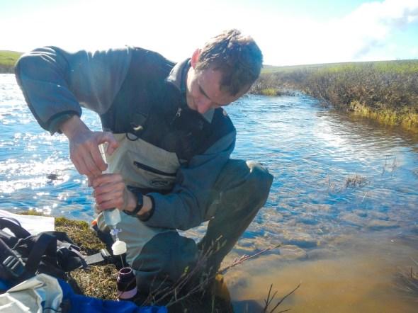 Kuparuk River water sampling Alaska water quality