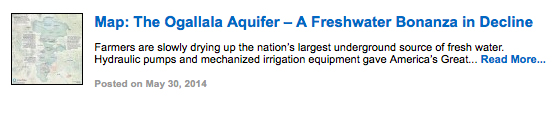 Map: The Ogallala Aquifer – A Freshwater Bonanza in Decline