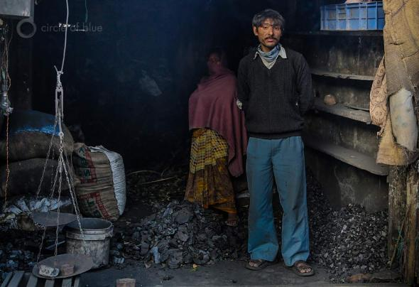 Charcoal is an important source of fuel for heating and cooking in Megahalaya, in northeast India, and one of the factors in the state's spreading deforestation. This charcoal dealer sells from a small shop in Shillong, the state capital.