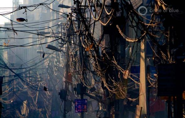 The gulf between available electricity and demand is growing wider and more expensive in New Delhi and other cities. One reason. From a quarter to a third of the country's electricity is lost on inefficient electric transmission systems.