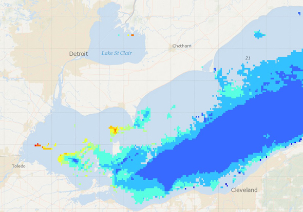 Lake Erie chlorophyll concentrations
