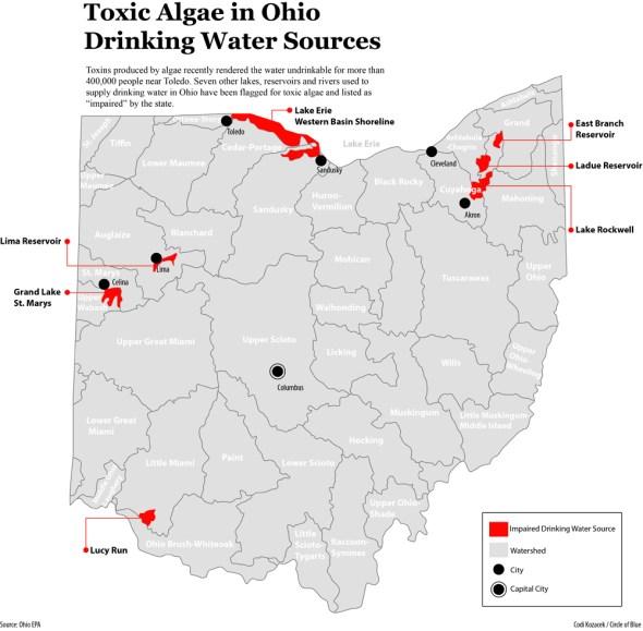 Ohio drinking water impaired toxic algae