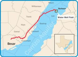 San Antonio Vista Ridge pipeline groundwater Burleson County water supply Texas drought
