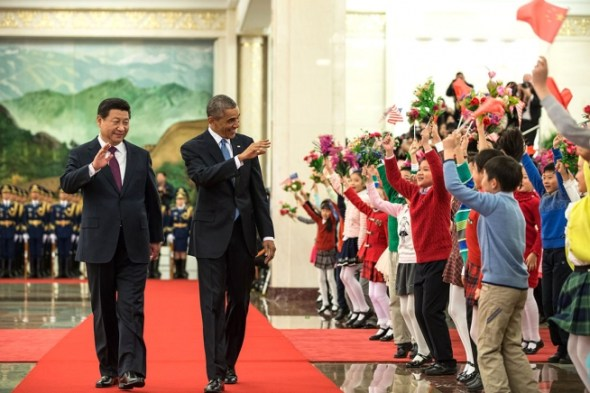 Barack Obama Xi Jinping water energy climate change China United States cooperation welcome ceremony beijing