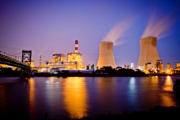corporate water risk thermal power plant CDP report