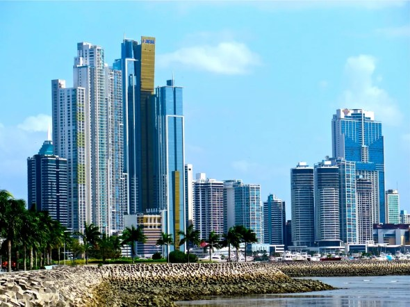 Panama City skyline skyscraper construction global trade maritime capital Keith Schneider Circle of Blue
