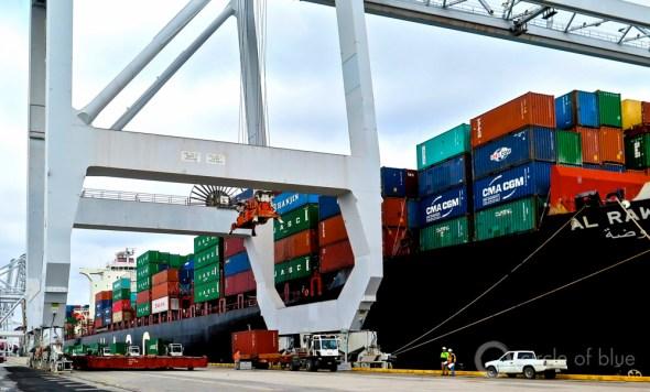 Savannah Georgia port Garden City terminal shipping containers world trade harbors