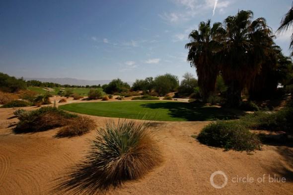 California golf course Coachella Valley Palm Springs water use desert fairway green