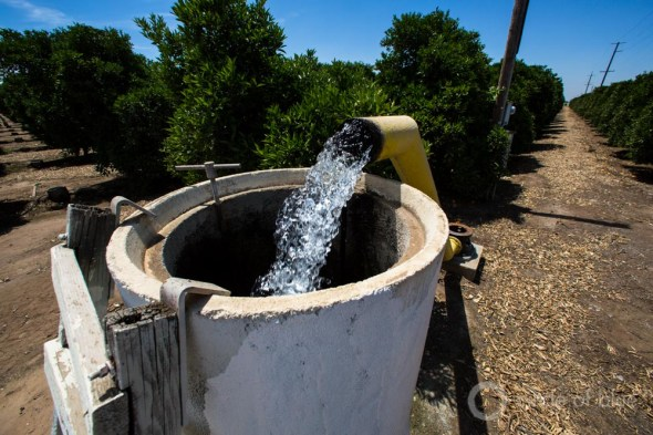 California groundwater well Tulare County irrigation agriculture drought water use farming