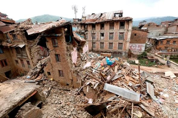 Nepal april 25 earthquake building collapse Kathmandu disaster