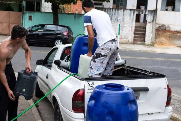 Sao Paulo water truck drought