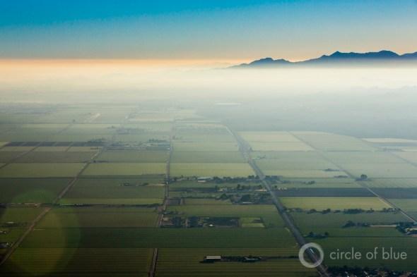 Arizona farmland fallowing Colorado River desert farm fields Phoenix Scottsdale Gila River J. Carl Ganter Circle of Blue