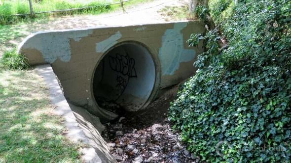 Oakland California stormwater daylight stream Dimond Park culvert Sausal Creek