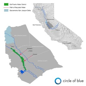 Map Infographic Graphic Del Puerto Water District California drought wastewater recycling Kaye LaFond Circle of Blue