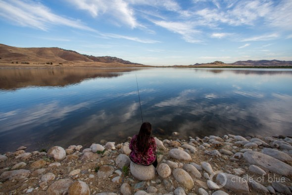 California Kern County reservoir drought Central Valley Carl Ganter circle of blue