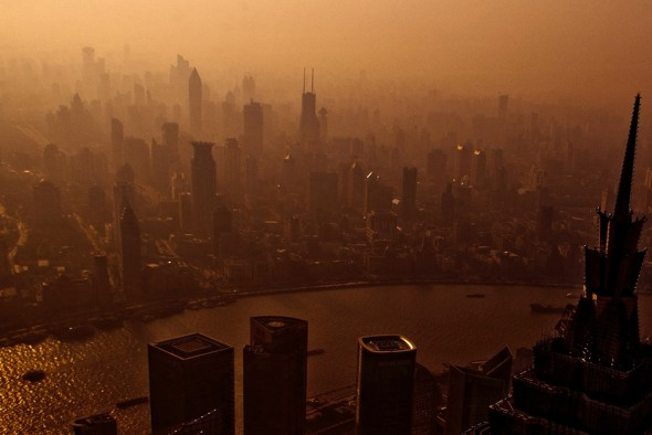 China Shanghai air pollution smog cap and trade program climate change emissions