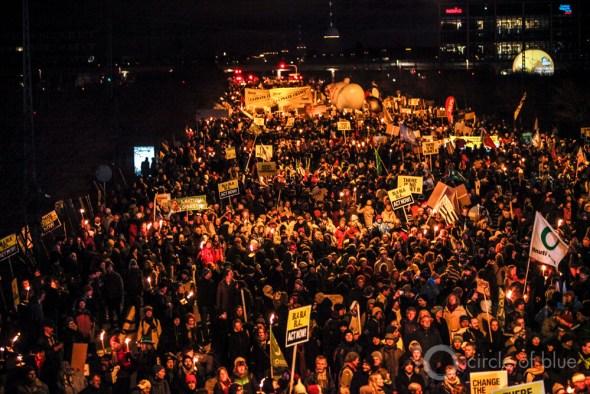 Copenhagen COP 15 march demonstration Paris COP 21 climate change negotiations