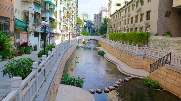 China Donghao Chung Guangzho daylighted stream urban design development economy water