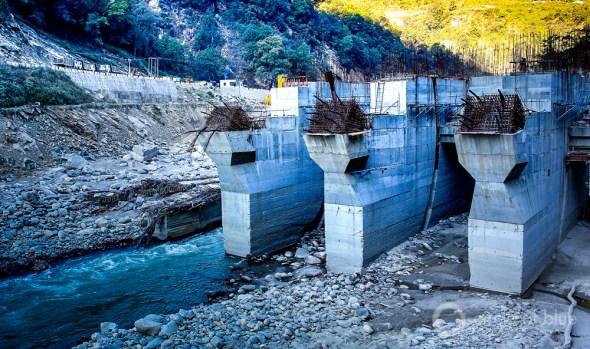 Uttarakhand India Himalayas flood dam Okund Mandakani River