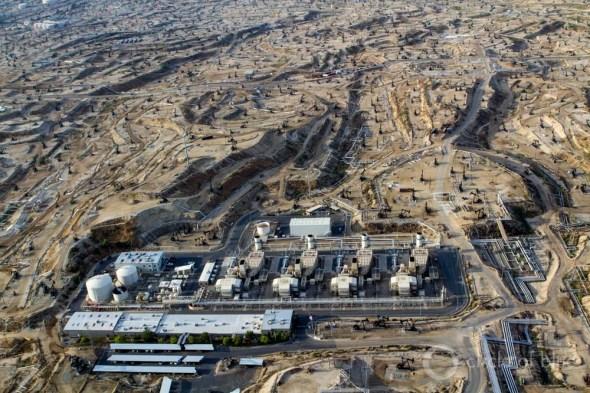 California Kern County oil industry aerial shot pump jacks energy