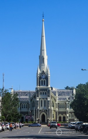 The Dutch Reform church at the center of Graaff-Reinet, a desert Karoo town that is South Africa's fourth oldest.
