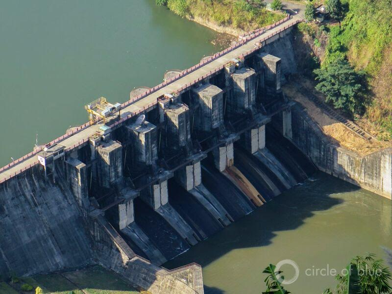 In 2004, 2008, and 2011 flood waters overwhelmed managers of the 405-megawatt Ranganadi hydropower dam, the largest in Arunachal Pradesh, India. The rushing waters inundated the plains of Assam, the neighboring province on the Brahmaputra's southern banks, and prompted civic backlash to new dams in the region. Photo © Keith Schneider / Circle of Blue
