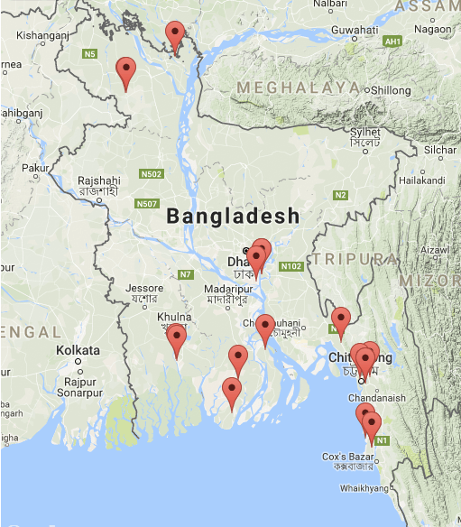 Proposed coal plants in Bangladesh