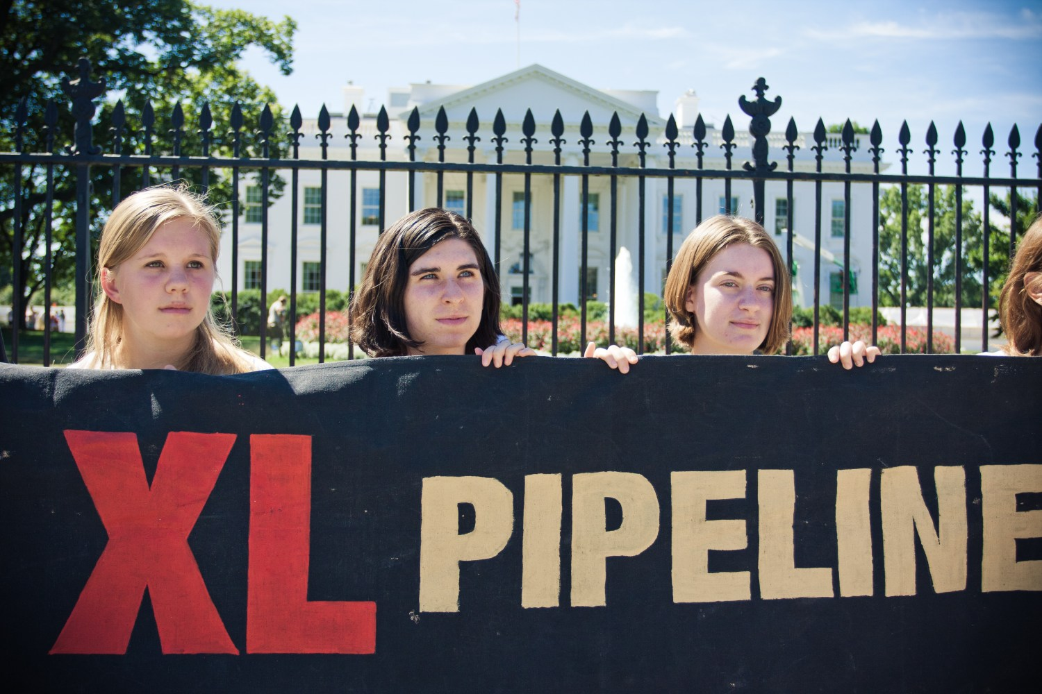 The Obama administration denied TransCanada a permit to build the Keystone XL pipeline in 2015 following big and active demonstrations, including this one at the White House. Photo courtesy of Creative Commons