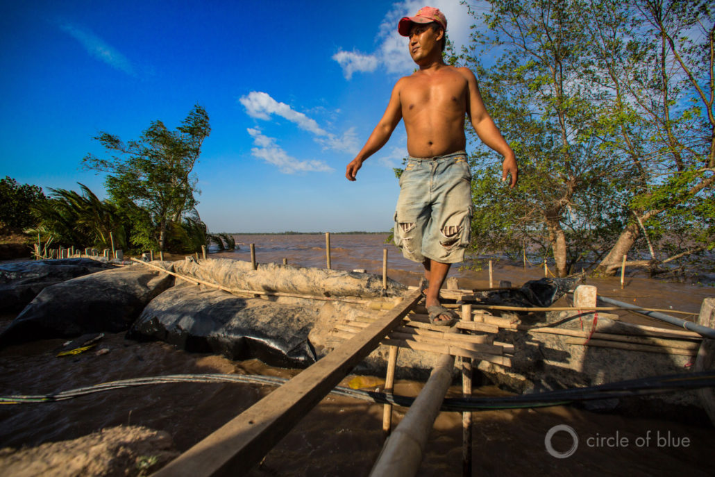 A good number of the more than 60 million people in four Southeast Asian nations that rely on the Mekong River are being pushed around by what they view as obsolete electrical generating priorities. Photo © J. Carl Ganter / Circle of Blue
