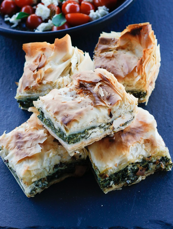 Spinach and Feta Filo Pie | circleofeaters.com