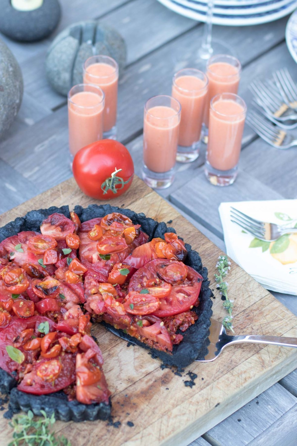 Tomato Tart with Charcoal Crust-5