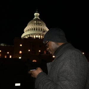 praying at the capitol in Washington DC