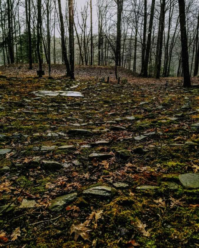a stone labyrinth