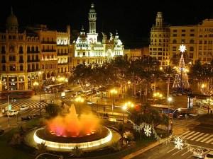spain, madrid, city at night