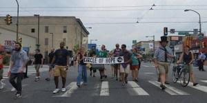 Circle of Hope protesting at the DNC