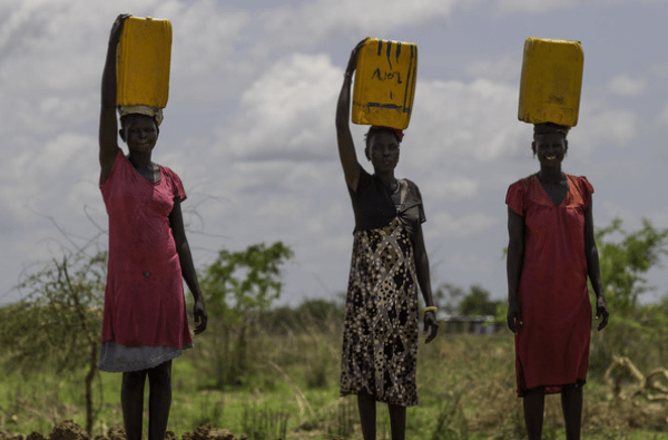 southern sudan women collect water
